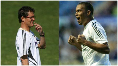 Capello y Ronaldo chocaron en el Real Madrid. (AFP)