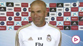 Zidane opinó sobre el regreso a los entrenamientos en los medios del club. (realmadrid.com)