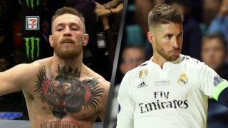 McGregor y Ramos imitándole en una celebración.