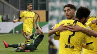 Achraf, en el partido ante el Wolfsburgo.