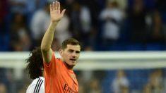 Casillas tras su último partido en el Bernabéu.