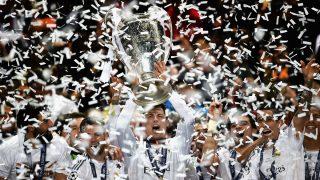 Cristiano Ronaldo celebra la Décima en Lisboa con el Real Madrid. (Getty)