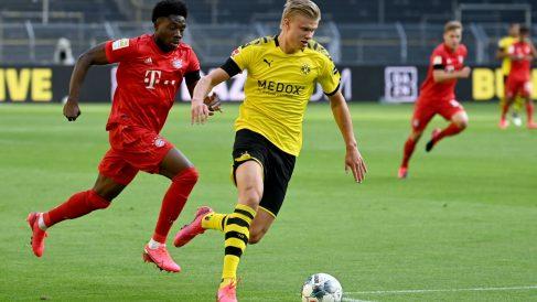 Haaland no cuajó un buen partido ante el Bayern. (AFP)