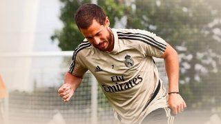 Eden Hazard, en un entrenamiento.