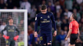 Fede Valverde, durante un partido del Real Madrid (Getty).