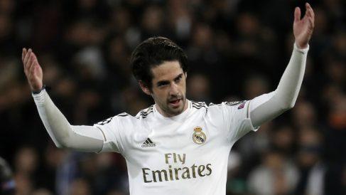 Isco Alarcón, en un partido reciente del Real Madrid (Getty).