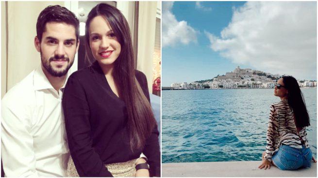 Isco y Victoria Calderón, años atrás y en su última foto subida a Instagram.