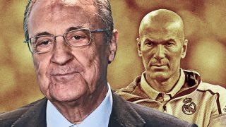 Florentino Pérez y Zidane decidirán los fichajes del Real Madrid.