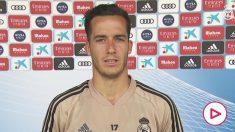 Lucas Vázquez habló para los medios del club. (realmadrid.com)