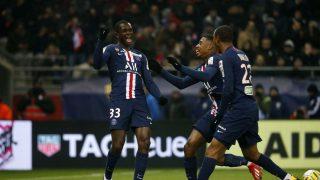 Tanguy Kouassi, celebrando un gol. (PSG)