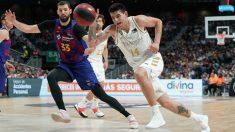 Deck, en un partido frente al Barcelona. (ACB)
