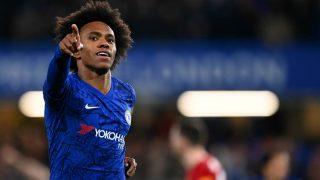 Willian celebra un gol con el Chelsea. (Getty)
