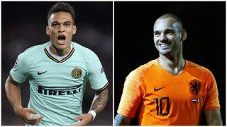 Wesley Sneijder recomienda a Lautaro Martínez que elija al Madrid.