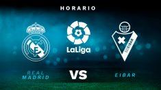 Real Madrid-Eibar: horario y dónde ver en directo por TV el partido de Liga Santander.
