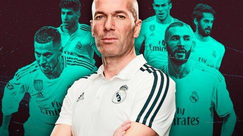 Zidane deshoja un nuevo tridente.