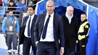 Zidane, durante un partido con el Castilla. (Getty)