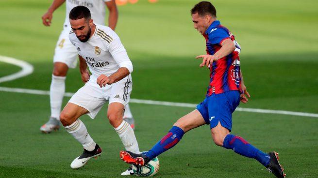Carvajal, durante el partido ante el Eibar (EFE).