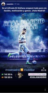 Emotivo mensaje de Casemiro antes del Madrid – Eibar: «En el Di Stéfano empezó todo para mí»