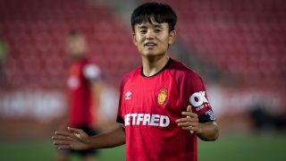 Kubo, durante un partido. (AFP)