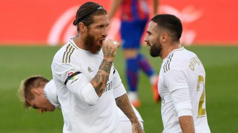 Sergio Ramos celebra un gol. (AFP)