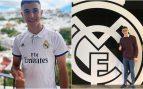 Antonio David, tras firmar por el Real Madrid.