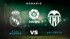 Real Madrid – Valencia: hora y dónde ver el partido de la Liga Santander en directo por TV.