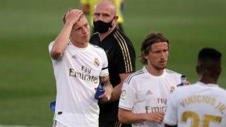 Kroos, durante el Real Madrid – Eibar. (Getty)