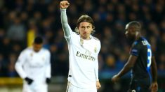 Modric celebra un gol con el Real Madrid. (Getty)