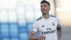 Javi Sánchez, en un partido con el Castilla. (Real Madrid)