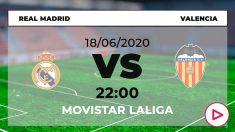 Liga Santander 2019-2020: Real Madrid – Valencia| Horario del partido de fútbol de Liga Santander.