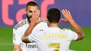 El madridismo tiene una nueva esperanza con la conexión Hazard-Benzema. (AFP)