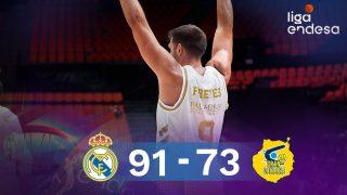 Felipe Reyes celebra un triple. (ACB)