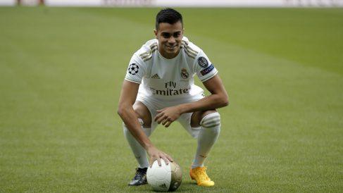 Reinier, en su presentación con el Real Madrid. (Getty)