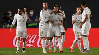 Los jugadores del Real Madrid celebran un gol. (Getty)