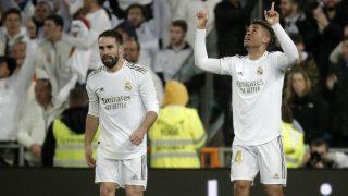 Mariano y Carvajal celebran un gol. (Getty)