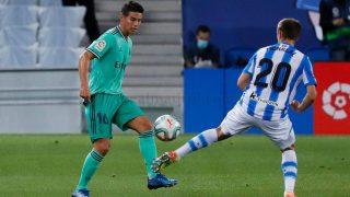 James, durante un partido ante la Real Sociedad. (Realmadrid.com)