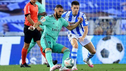 Benzema, en el último Real Sociedad – Real Madrid | Liga Santander.