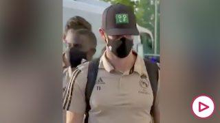 Gareth Bale, de camino al estadio Alfredo di Stéfano.