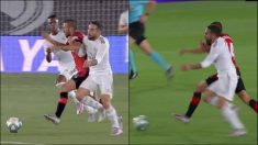 El Mallorca protestó una falta de Carvajal en el gol de Vinicius.