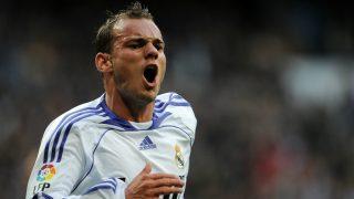 Sneijder, durante su etapa en el Real Madrid. (AFP)