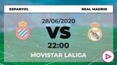 Espanyol – Real Madrid: horario y dónde ver el partido de Liga Santander hoy en directo por TV online.