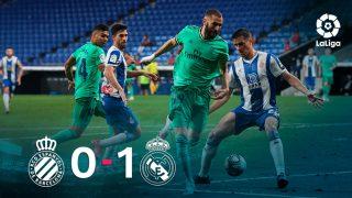 El Real Madrid se impuso 0-1 al Espanyol.