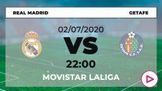 Real Madrid-Getafe: dónde ver y horario del partido de hoy de Liga Santander por TV online en directo.