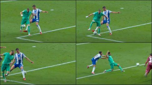 El taconazo mágico de Benzema ante el Espanyol.