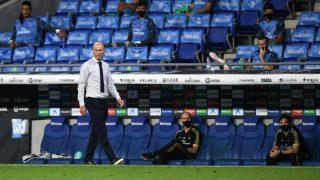 Zidane durante un partido con el Real Madrid. (Getty)