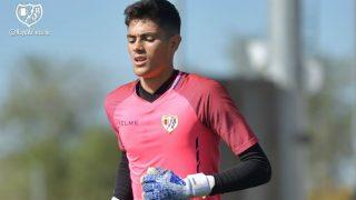 Mario de Luis, portero del Rayo Vallecano que firma por el Real Madrid. (@RayoVallecano)