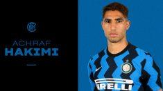 Achraf, nuevo jugador del Inter de Milán. (@INTER)