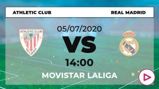 Athletic – Real Madrid: horario y dónde ver el partido de Liga Santander hoy en directo por TV online.