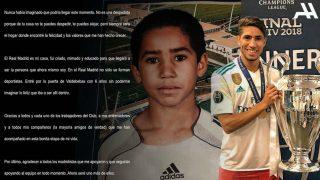 Achraf se despide del Real Madrid con una carta. (Instagram)