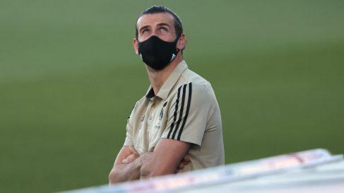 Gareth Bale, antes del inicio del partido ante el Getafe. (Getty)